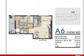 Cần bán căn hộ A6 45m2 - 1PN, 1.9 tỷ, tầng cao, view biển Vũng Tàu Gold Sea- gọi 0915 20 13 13