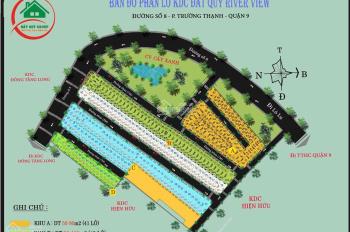 Dự án KDc Đất Quý River view, ngay đường Lò Lu,kề KĐT Đông Tăng Long, giá 1 tỷ 2, shr, 0799.812.952