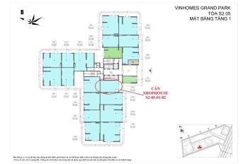 Chuyên bán Shophouse khối đế Vinhomes Grand Park Quận 9 cam kết có hàng PKD: 0913.374999