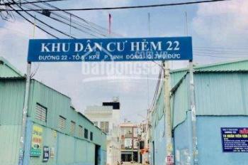 Bán đất đường số 22, Linh Đông, DT 54.7m2 (4x13m), SHR, đường nhựa rộng 5m, giá 3.25 tỷ
