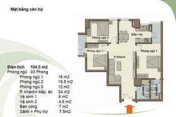 Chính chủ bán gấp CHCC Green Park, Dương Đình Nghệ, 104,5m2, căn góc