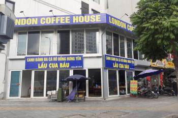 Cho thuê nhà mặt phố Khúc Thừa Dụ, hai mặt tiền làm nhà hàng, cà phê, S: 100m2, 2 tầng