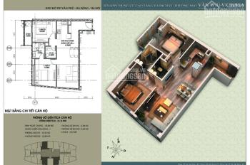 Bán căn 2PN, 76m2, cửa Đông Bắc tòa V3 chung cư Văn Phú Victoria giá 1,55 tỷ. LH 0934515659