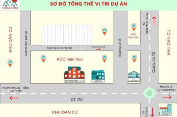 Bán đất TT Chơn Thành giá rẻ cho nhà đầu tư DT 200m, TC 40m, giá 2,8tr/m2