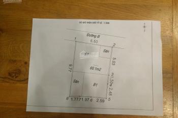 CC cần bán lại căn nhà trên phố Bạch Mai, S 60m2, MT 6,6m. LH: 0906555577
