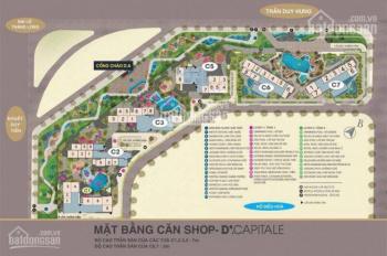 Bán hoặc cho thuê lô shophouse tòa C5 - lô góc đẹp nhất Vinhomes D'Capitale Trần Duy Hưng