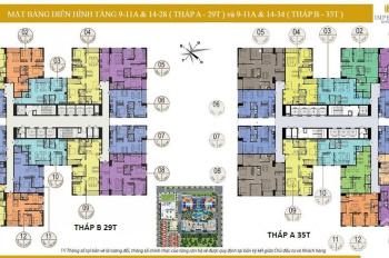 Bán lỗ căn tầng đẹp, căn 04, DT 110m2 phòng bếp rộng chung cư cao cấp Imperia Garden 4,1 tỷ