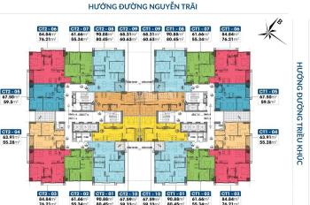 Chính chủ cần bán lại căn hộ 3pn 80m2 tầng 16 tại chung cư PCC1 Triều Khúc