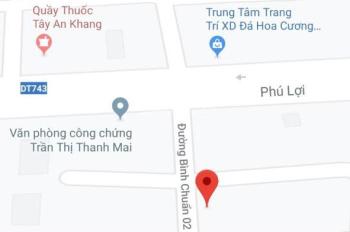 Bán đất đường Bình Chuẩn 02, DT 4.2x19.8m (nở hậu 4.7m), thổ cư 62m2, LH 0984793335