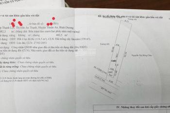 Bán 482.5m2 đất mặt tiền DT 745 (CMT8) cạnh phường An Thạnh, vui lòng LH 0964859456 trân trọng
