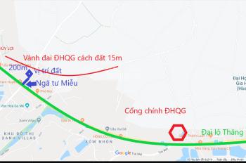 Chính chủ bán đất Miễu - cách ngã tư Miễu - Đại lộ Thăng Long 200m