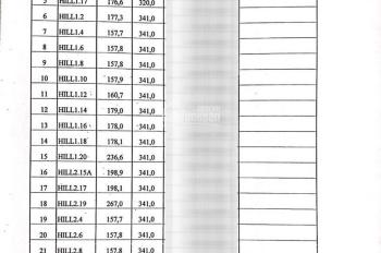 Bảng giá gốc căn BT Khai Sơn Hill, 14 tỷ/ căn, nhanh tay nhận ngay cơ hội, CK 15% LH 0904684254