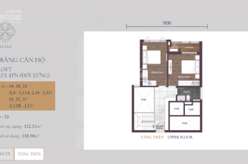 Feliz En Vista Capitaland Quận 2 bán 2PN giá 45tr/m2. LH: Liễu: 0913954339