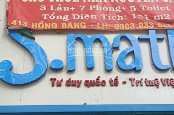 Cho thuê nhà mặt tiền Quận 5, 413 Hồng Bàng, chính chủ