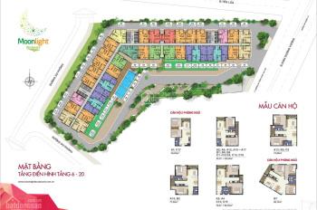 Cần bán căn 1PN 52m2, Moonlight Boulevard, giá 1.750 tỷ tặng nội thất+ phí quản lý LH: 0908207092