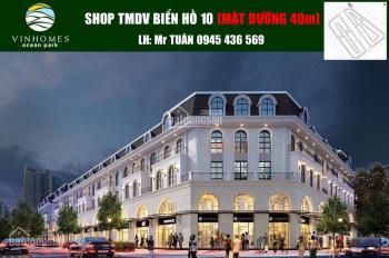 Bán shophouse 5 tầng Ocean Park, mặt đường 40m, khu 18 tòa chung cư, gần Học viện Nông nghiệp