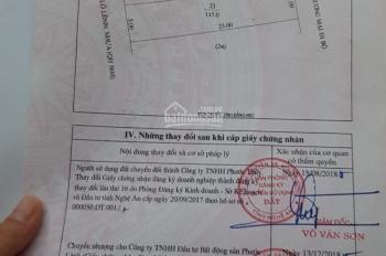 Chính chủ bán gấp 115m2 (5*23m) đất mặt tiền Đại lộ Lê Nin, P Hưng Dũng, TP Vinh, giá 12.999 tỷ