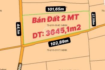 Chủ gửi bán 3645m2 lô đất 2 mặt tiền đường bê tông xã Xuân Tây, huyện Cẩm Mỹ