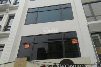 Cho thuê nhà MP Nguyễn Ngọc Vũ, DT 75m2 x 6 tầng, thang máy thông sàn, tiện kinh doanh. Giá 80tr/th
