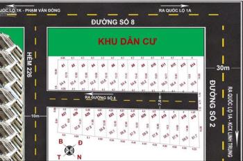 Bán đất hẻm 226 đường số 8, phường Linh Xuân, Thủ Đức, lô số 7, DT 54.5m2, giá 45tr/m2 (2.450 tỷ)