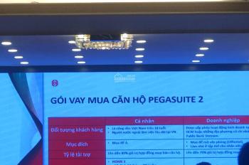 Rổ hàng nội bộ Pegasuite 2 giá rẻ view đẹp 52m2 (2PN 1WC) giá 1,7 tỷ. LH 0937934496