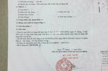Bán đất hẻm 133/38/48 Cống Lở phường 15 Tân Bình TP Hồ Chí Minh