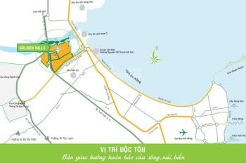 Cần tiền bán sụp hầm lô Golden Hills, gần trường học, đối lưng Nguyễn Tất Thành