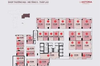 Bán shop thương mại La Astoria Quận 2 DT 27m2 phù hơp làm VP đại diện giá chỉ 910 triệu, 0944589718