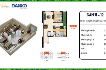 Bán căn hộ 2PN tầng trung vào ở ngay, dự án đẹp, hạ tầng đồng bộ, gần Aeon Mall Hà Đông
