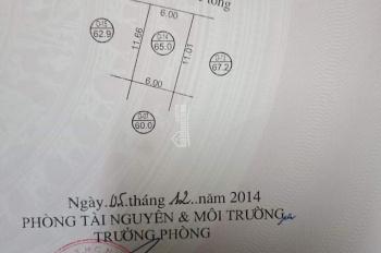 Cần bán nhà 2 lầu trên đất đấu giá x10 Song Phương, DT: 65m2