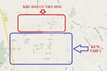 Cần sang nhượng gấp 2 lô đất đường D15 KDC Việt Sing giá 1 tỷ 640/150m2. LH 0934834858 - 0389587595