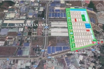 Bán đất kề khu công nghiệp Nam Tân Uyên, mặt tiền DT746, 15-19 triệu/m2, sổ riêng, thanh toán 4 đợt