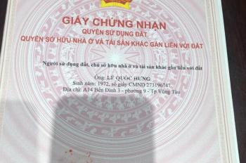 Bán 130m2 đất đường Đô Lương F11, gần biển giá 5.6tr/m2, liên hệ chủ 0989219081