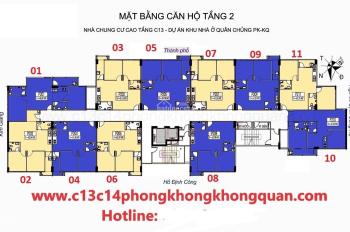 Bán gấp căn hộ chung cư C13 Bùi Xương Trạch căn 806, DT: 62,23m2, 19.5 tr/m2, A. Trung O933269345