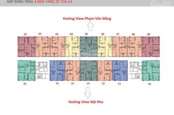 Chủ nhà bán gấp CC Ciputra IA20, căn 1802 tòa A1, DT 91.25m2, giá 21tr/m2, 0933269345 Chị Giang