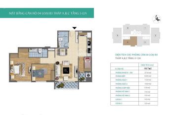 Bán căn CC 93.7m2, xây cho cán bộ báo nhân dân, Mỹ Đình, giá 22tr/m2, LH 0914 553 572