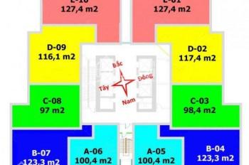 Anh Long cần bán CH FLC Twin Tower Cầu Giấy, căn T1603, DT 98m2, giá 32tr/m2. (có sổ) LH 0979584600