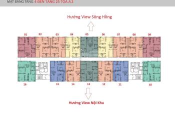 Tôi có căn hộ IA20 Ciputra, view sông Hồng tòa A2, tầng 1803, DT: 92m2, giá 1,9 tỷ, LH 0933269345