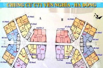 0933269345 tôi tên Hưng bán gấp chung cư CT1 Yên Nghĩa, căn 1801B, DT 60.1m2, giá 13tr/m2 MTG