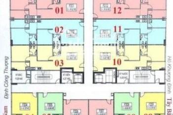 Anh Công bán gấp chung cư C14 Bùi Xương Trạch căn 1207, DT 63.6m2, giá 20 tr/m2. LH 0979584600