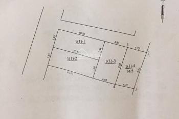 Gia đình cần bán đất Trâu Quỳ, Gia Lâm, 35m2, mặt tiền 4m, giá 970 triệu, 0902883342
