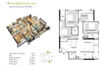 Cả Hà Nội phát sốt với căn hộ 4 phòng ngủ rộng thênh thang đẳng cấp ven sông Hồng, trực tiếp cĐT