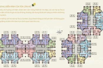 Cần bán gấp căn B1 - 1006, DT 141.8m2 chung cư Tecco Complex Thanh Trì, giá bán: 18tr/m2 0912779666