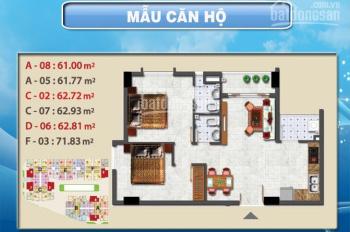 Bán căn hộ Sơn kỳ 1, 63m2 2PN 2WC, giá 1.95 tỷ - LH 0919402958