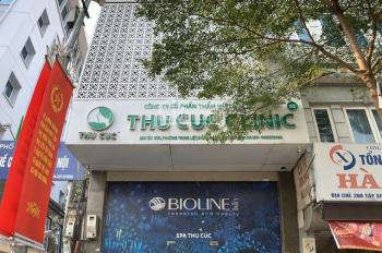 Cho thuê nhà Thu Cúc Clinic phố Tây Sơn, 52m2 x 6T, MT 6m, căn góc, có thang máy, có bãi xe ô tô