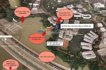 Bán đất full thổ cư 100% tại Hòa Lạc, sát ký túc xá Đại học Quốc Gia HN, đất vàng thôn Miễu, sẵn sổ