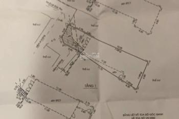 Bán nhà GV hướng tây chệch bắc, DT 106m2, 1 trêt 2 lầu, nở hậu 7m. LH chủ 0903.139.176 Quốc Trí