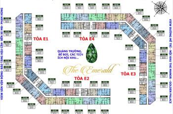 Bác Phú cần tiền bán gấp CC The Emerald, căn 1202-E2 căn góc, DT 109,5m2 giá 32tr/m2. LH O979584600