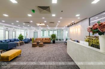Cho thuê VP đủ nội thất, 10 - 15 - 20 - 25 - 30 - 50 - 500m2, tầng 12 tòa Diamond, 48 Lê Văn Lương