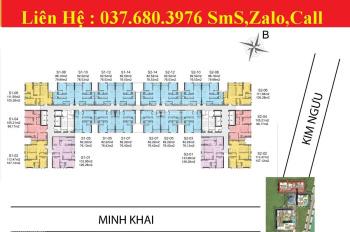 Cho thuê căn hộ số 03, 07, 10 2PN đồ cơ bản tại Hinode City 201 Minh Khai diện tích 85m2 13tr/tháng